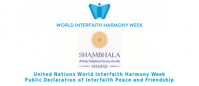 Halifax Shambhala Centre Scotia Declares Interfaith Peace and Friendship