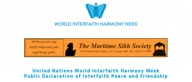 Maritime Sikh Society Declares Interfaith Peace and Friendship